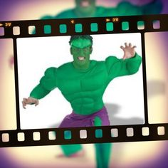 Incredible Hulk costume includes all in one jumpsuit and either paint your face with our facepaint or wear the mask. We have a range of masks to go with lots of our costumes here at Costume Bazaar