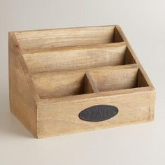 Classic charm, chic style and vintage appeal come together in the name of organization with our Owen Desk Organizer. Crafted of wood with antique detail and finish, this desktop storage piece is a perfect solution to storing stray papers and mail and lending elegance to your home office décor.