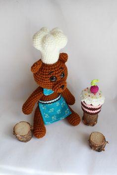 Поварской колпак для игрушки крючком. Мастер-класс / crochet Toque for toys (russian tutorial)