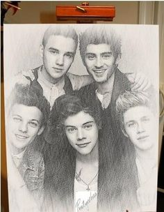 One direction drawing WHAT!!!!! Someone Drew ZAYN!!!!!!
