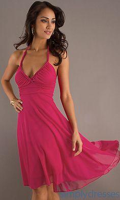 High Low Halter Dress at PromGirl.com-pretty sundress