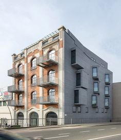 EQUITONE facade materials. Facade renovation in Aalst (B) www.equitone.com