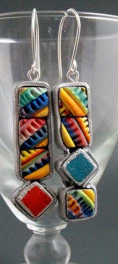 Abstract Earrings by MargitB., via Flickr