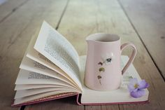 pink small pansy jug by Jane Hogben