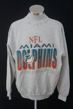 Vintage 90s NFL Miami Dolphins Logo 7 Heavy Weight Pullover Crew Neck  Sweatshirt Size XL by bffc9c8cb