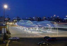 Technical Information Project Name: The Rapid Central Bus Terminal Project Location: Grand Rapids, Michigan Year Completed: 2004 Membrane Type: PTFE Fiberglass Total Project Size: sq. Central Station, Bus Station, Marine City, Membrane Structure, Tensile Structures, Grand Rapids Michigan, Bus Terminal, Fabric Structure, Fabric Canopy