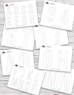 Carve letters and numbers into your pumpkin this year with these free printables from Plaid online! 36 Free Pumpkin Stencil Template Printables!