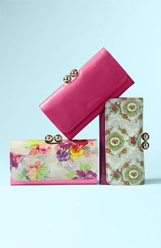 Ted Baker London 'Baroque Deco Crystal Bobble' Matinee Wallet | Nordstrom