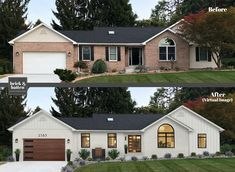 haus design We've come up with 18 predictions for 2020 exterior home design. That said, as 2020 is quickly approaching it's important to be aware of whats coming. Design Exterior, House Paint Exterior, Exterior House Colors, Outside House Paint Colors, Garage Door Colors, Home Styles Exterior, Garage Doors, House Ideas Exterior, Modern Home Exteriors