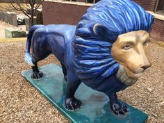"""Lion with the Blues"" located at Butte des Morts Country Club, Appleton, WI"