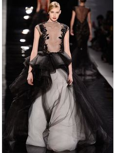 Black Orchid is inspired by the atmosphere of haute couture & this Reem Acra gown at NYFW couldn't be a better example