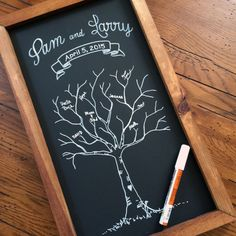 Personalized Rustic Framed Wedding Guest by TimberAndType on Etsy