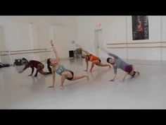 Stretch from 4th Position, Horton Technique, Choreography for Modern Dance Class - YouTube