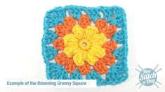 How to Crochet the Blooming Granny Square (via New Stitch a Day)