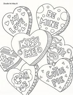 Valentine\'s Day Coloring Pages eBook: Love Me | Free printable, Free ...
