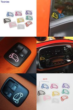 [Visit to Buy] Reflective Tape Smart Pattern Fortwo Forfour Auto Car Stickers Cars Stickers Carbon Film Styling Motorcycle Accessories 9 Pcs #Advertisement