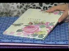 Manhã Viva: Como encapar cadernos com guardanapos - YouTube