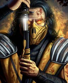 Escorpion Mortal Kombat, Fantasy Character Design, Fantasy Characters, Comic Book, Video Game, Cartoons, Cosplay, Artwork, Videogames