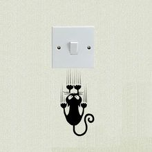 Animal Decorative Vinyl Wall Decals Funny Cat Personality Switch Sticker - Cat H. - Animal Decorative Vinyl Wall Decals Funny Cat Personality Switch Sticker – Cat Home Decor, Housew - Simple Wall Paintings, Wall Painting Decor, Diy Wall Art, Wall Decor, Wall Art Designs, Paint Designs, Wall Design, Vinyl Wall Decals, Wall Stickers