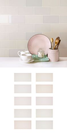 Made from ceramic, these Tints Rose Brick Tiles offer an intricate play on the traditional white, and add a variation of shaded pink on pink tones. They add an elegant and subtle statement, giving depth to any living space. They create a calm and relaxed space.