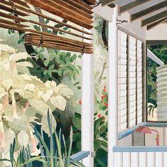 Verandah - Cressida Canpbell Australian b. Australian Painting, Australian Artists, Art Deco Artwork, New York Painting, Watercolor On Wood, Beautiful Artwork, Gravure, Art Tutorials, Painting Inspiration