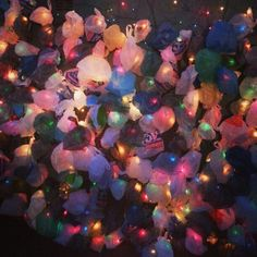 Luminous, Plastic bags light installation-BEAMS art festival 2014