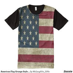 American Flag Grunge Style All-Over-Print Shirt - Visually Stunning Graphic T-Shirts By Talented Fashion Designers - #shirts #tshirts #print #mensfashion #apparel #shopping #bargain #sale #outfit #stylish #cool #graphicdesign #trendy #fashion #design #fashiondesign #designer #fashiondesigner #style