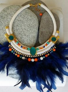 sofi Feather Necklaces, Rope Necklace, Wedding Sets, Wedding Rings, Star Costume, Anniversary Bands, Maxis, Tribal Jewelry, Handmade Necklaces
