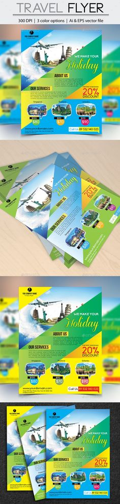 Travel Vacation Tourism Flyer Template PSD Buy And Download Http - Tourism flyer template