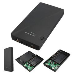 Universal 5 v 9 v 12 v 6x18650 dual usb portátil banco de la energía externa del cargador de batería caja de la caja para iphone para samsung