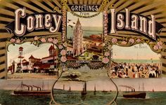 When you think of Amusement Parks, you think of Coney Island in Brooklyn, New York. Discovered in 1609 by Dutch explorer Henry Hudson, Coney Island . Coney Island Amusement Park, Amusement Parks, Cool Places To Visit, Places To Go, Vintage Carnival, Poster Size Prints, Surfing, America, Vacation