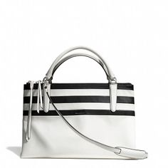 Coach The Borough Bag In Bar Stripe Leather on shopstyle.com