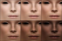 I've been working on this skin for absolutely ages, and I'm glad to say it's finally done! The face has primarily bold features - prominent nose root and bulb, thick-hooded eyelids and sharp shading around the cheek hollows for strong cheekbones. Credits go to Jirka/Glance and trappingit for the…