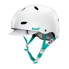 Bern Brighton Women's Helmet With Visor - Satin White