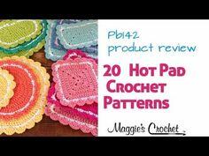 round ones, squares ones, oval ones, rectangular ones ~ easy level ~ CROCHET Crochet Kitchen, Crochet Home, Diy Crochet, Crochet Designs, Crochet Patterns, Crochet Hot Pads, Crochet Crowd, Crochet Potholders, Crochet Videos