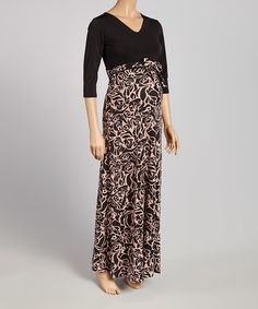 A graceful, floor-skimming cut sways with each stride, while stretch-enhanced fabric glides comfortably over growing curves. Cute Maternity Dresses, Maternity Maxi, Curves, Beige, Floral, Skirts, Fabric, Black, Fashion