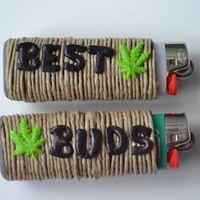 Best Buds Marijuana Leaf Friendship Lighter Cover Set of 2