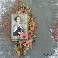 Scrap Made in Touraine: Tell me your story - 49 and Market DT . Magicals: Bratwurst Brown, Cowabunga Copper - Squirts: Oh Canadian Crimson, Canadian Bacon Blush Scrapbook Blog, Scrapbooking Layouts, Scrapbook Pages, General Crafts, Layout Inspiration, Detailed Image, Green And Grey, Olive Green, Collage Art