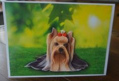 Yorkshire Terrier Card Front by Gill Dean