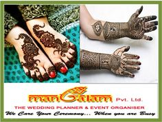 Mehndi as a tradition is intrinsically tied up with Indian weddings and it works well even with our modern brides. Stunning designs, organic materials and talented artists come together to provide that beautiful bridal feel. http://www.mangalampvtltd.in/service.php