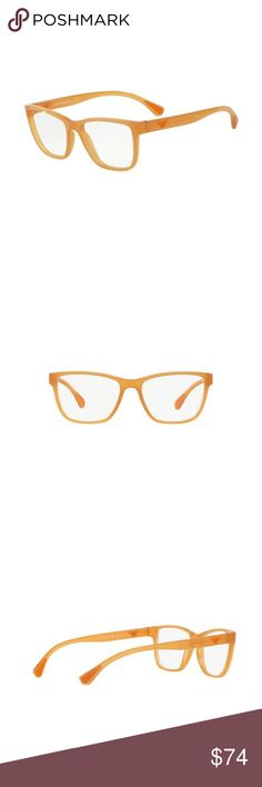 236253a8b6 EA3090-5537 Women s Orange Frame Eyeglasses New gorgeous authentic Emporio  Armani EA3090-5537 women s