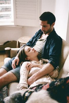 perfection.  a girl and her guy and her dog. cozy sweaters. relaxing days indoors. maybe a breeze through the window. and no words are needed.