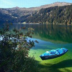 © Frank Dawy, Boat on Sary-Chelek lake #travel #traveling #adventure #ecotourism #triptoKG