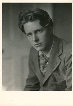 "WW1 British poet Rupert Brooke.  His most famous poem begins with ""If I should die, think only this of me...""  Well, we think you were very kissable, Rupe."