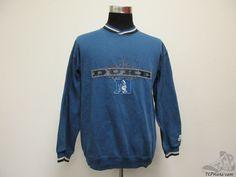 Vtg 90s Starter Duke Blue Devils SEWN Crewneck Sweatshirt sz L Large University #Starter #DukeBlueDevils