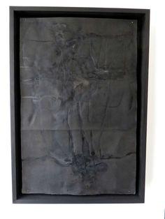 Black Burnt Ink Drawing on Paper by Lukas Machnik