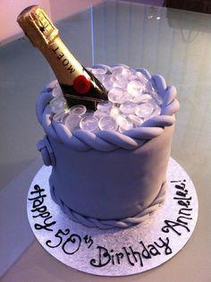 Champagne bottle birthday cake. For Personalised cake : celebratewithcake@rocketmail.com