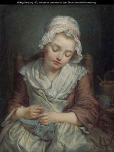 La Dormeuse Jean Baptiste Greuze,