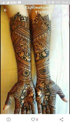 Pinterest:@AditiMaharaj Full Mehndi Designs, Wedding Henna Designs, Latest Bridal Mehndi Designs, Mehandhi Designs, Dulhan Mehndi Designs, Mehndi Design Pictures, Mehndi Designs For Hands, Blouse Designs, Mehndi Desighn