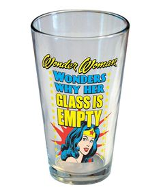 Wonder Woman Pint Glass Set